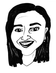 Sketch of Amanda Botfeld, editor 2014-2015