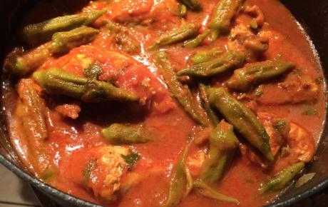 Indian Jewish Fusion: Bamia Khattah (Okra Stew)